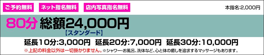 80分総額24,000円